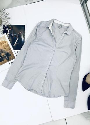 Базовая трендовая эластичная рубашка в горошек от h&m  1+1=3 на всё 🎁
