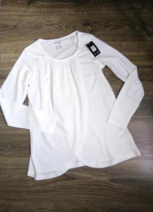 Мягкая хлопковая блуза лонгслив