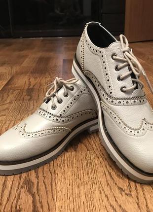 Ботинки/туфли эко кожа