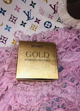 Гидрогелевые патчи для глаз с золотом, 60 штpetitfee  gold