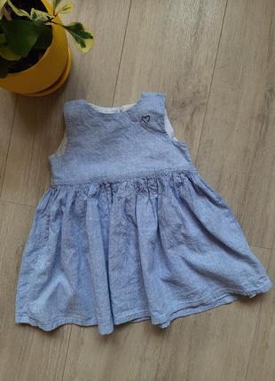 Платье летнее ткань натуральная h&m летняя одежда хлопок лен