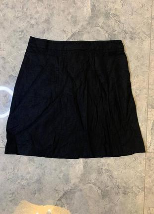 Распродажа все по 200 грн 🔥🔥🔥 черная лльяная мини юбка