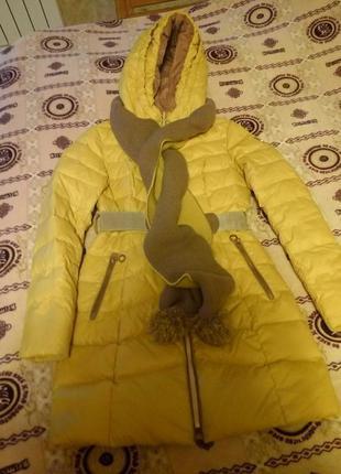 Пуховик, курточка, куртка желтая