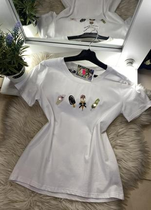 New 💘 женская футболка мороженко в стразах 💕🔝