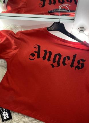Женский кроп топ футболка angel 🇹🇷💔