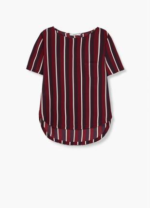 Стильная полосатая блуза с карманом от mango  1+1=3 на всё 🎁