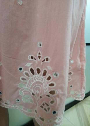 Легкий сарафан розово-персикового цвета, s/m3 фото