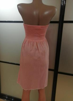 Легкий сарафан розово-персикового цвета, s/m4 фото