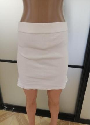 Трикотажная белая юбка, papaya,   s/m/l2 фото