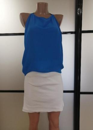 Трикотажная белая юбка, papaya,   s/m/l