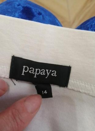 Трикотажная белая юбка, papaya,   s/m/l3 фото