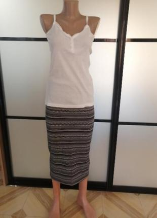 Трикотажная юбка/карандаш миди, h&m, размер s