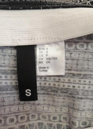 Трикотажная юбка/карандаш миди, h&m, размер s4 фото