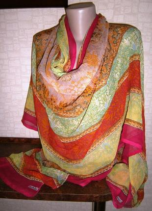 Большой красивый шарф из натурального шелка. sahiba