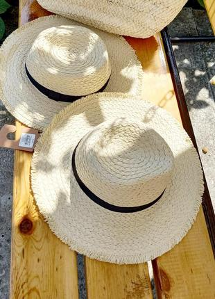 Шляпа соломенная / шляпа для моря