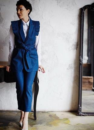Дизайнерский костюм жакет и штаны jenya pavlichenko, р. м