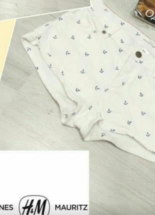 """Летние шорты в морском стиле. шорты с принтом"""" якоря""""."""