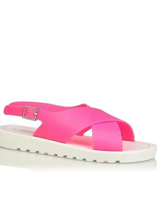 Розовые желейные сандалии с ремешком george
