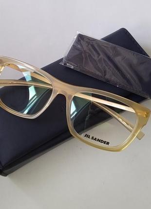Новая титановая оправа jil sander оригинал очки премиум мужские (унисекс)