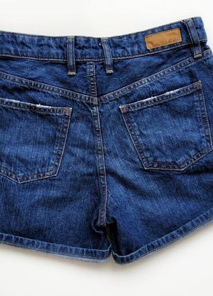 Классные джинсовые шорты с высокой посадкой esprit.3 фото