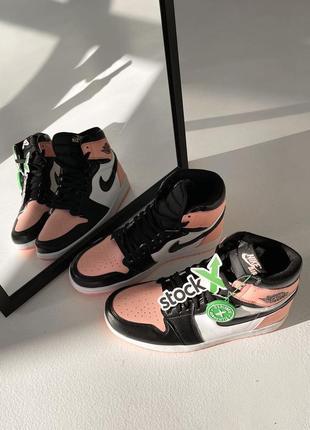 Nike air jordan пастельные кроссовки высокие женские