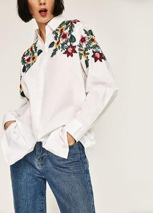 Рубашка с вышивкой вышиванка zara