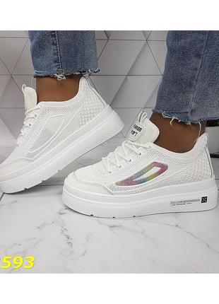 Белые кроссовки,кроссовки лето,летние кроссовки,легкие кроссовки,кеды,сникерсы лето,кроссовки танкетка