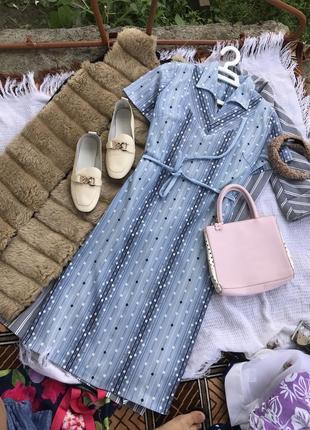 Актуальне голубе платье плаття в горох сукня літо платє оверсайз1 фото