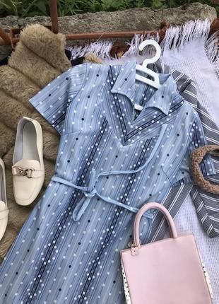 Актуальне голубе платье плаття в горох сукня літо платє оверсайз3 фото