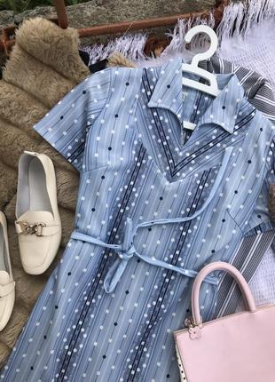 Актуальне голубе платье плаття в горох сукня літо платє оверсайз5 фото