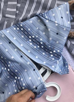 Актуальне голубе платье плаття в горох сукня літо платє оверсайз6 фото