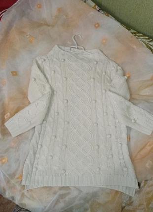 Белый женский свитер