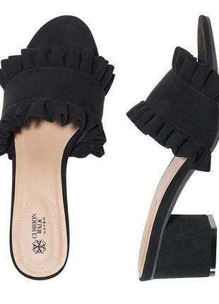 Мюли, босоножки на каблуке