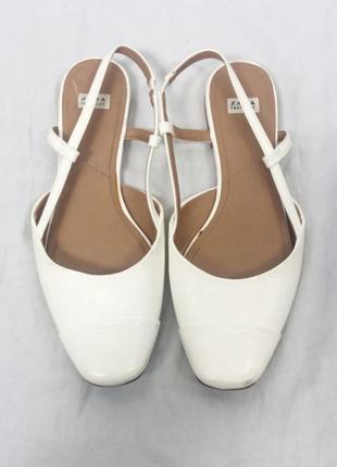 Zara обувь 39 белая сабо чешки туфли босоножки сандали zara