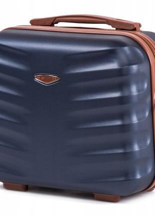 Чемодан дорожный (кейс-пилот) пластиковый мини 402 xs wings ( синий / blue )