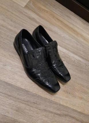 Туфли кожа everest 44 квадратный носок классика