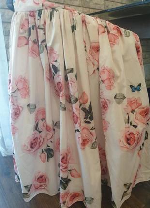 Платье сарафан в розы h&m asos zara белое в розы new4 фото