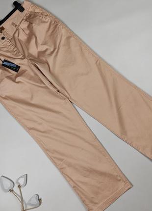 Штаны брюки новые хлопковые бежевые стильные next uk 14/42/l