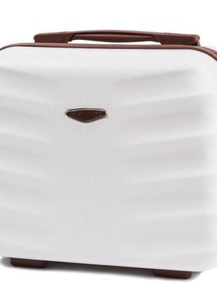 Чемодан дорожный (кейс-пилот) пластиковый мини 402 xs wings ( белый / white )