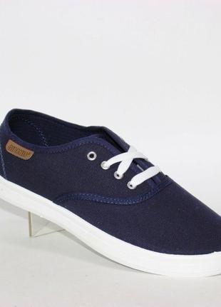 Джинсовые кеды на шнурках vss-11 синий