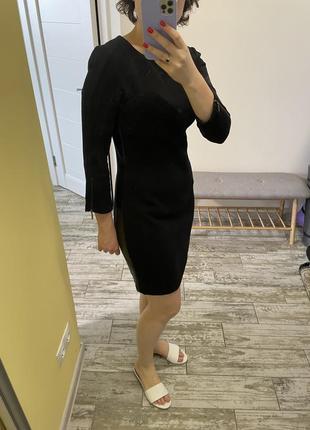Плаття з вставками з шкірзаму