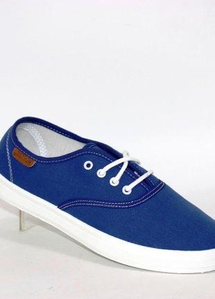 Текстильные подростковые кеды vss-11 светло синий