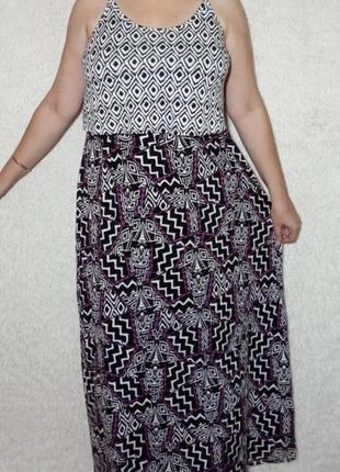 Натуральное платье из вискозы