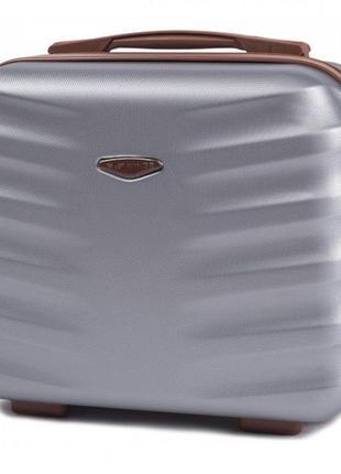 Чемодан дорожный (кейс-пилот) пластиковый мини 402 xs wings ( серебристый / silver )