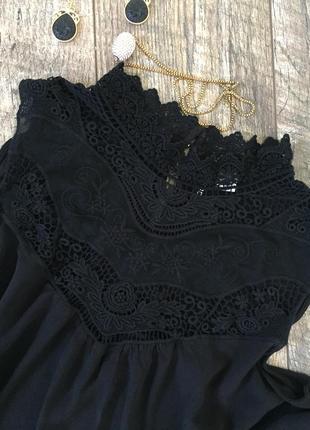 Красивая блузка топ с кружевом divided h&m xxl