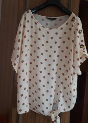 Шикарна брендова блуза, віскоза, оверсайз