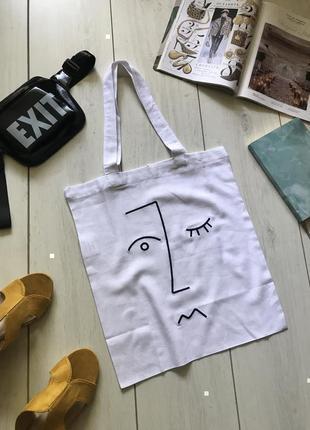 Лляная еко сумка шоппер1 фото