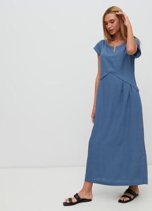 Летнее платье season большие размеры лен и вискоза