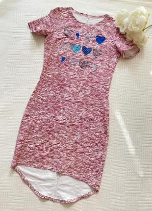 Платье с красивым принтом1 фото