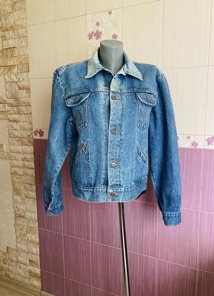 Джинсовый американский винтажный casual пиджак wrangler